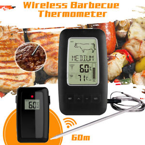 Digital Wireless Barbecue BBQ Meat Grilling Thermometer with 60m Receiver