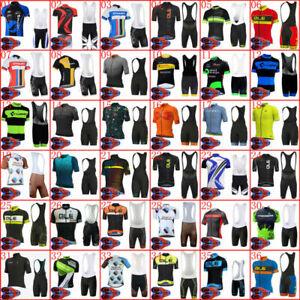 New Mens Cycling Short Jersey Bike Bib Shorts Kits Riding Shirt Pants Set Padded