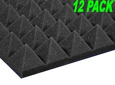 "2"" x 12"" x 12"" Charcoal Acoustic Pyramid Studio Foam 12 Pack"