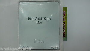 TRUTH BY CALVIN KLEIN FOR MEN 3.3/3.4 OZ/100 ML AFTER SHAVE LOTION SPLASH AS PIC