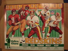 VINTAGE POSTER 1990's Hail To The Redskins SONNY JURGENSEN JOE JACOBY +3 more