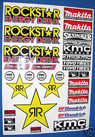 RC CORR ROCKSTAR 10th scale 1:10 stickers decals Associated SC10 Traxxas Slash