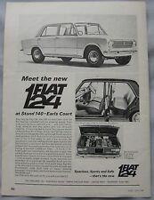 1966 Fiat 124 Original advert
