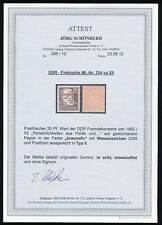 DDR Köpfe 25Pf Typ 334va XII Attest BPP Schönherr Postfrisch Einwandfrei