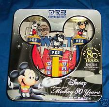 MICKEY MOUSE PEZ COLLECTION 80 YEARS CELEBRATION NIB
