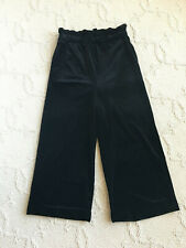 Cynthia Rowley Women's Velvet Elastic Waist Band Culottes Pants Black Size: M