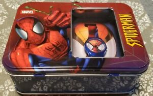 Spider-Man Marvel Collectible Mini Lunch Box Watch Tin 2002