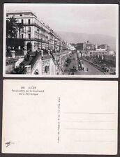 Old Real Photo Postcard - Alger, Algeria, Africa - Street Scene
