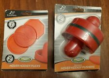 Air Hover Hockey Pushers Eastpoint Set Of 2 With 3 Hockey Pucks New