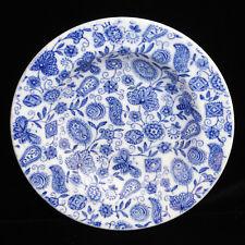 Child Flow Blue Transferware Bowl BUTTERFLY PAISLEY Ridgway Staffordshire 1890