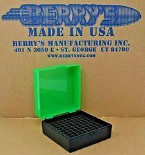 .223 / 556 ammo case / box 100 round (Zombie / Black) 222 223 556 Berry's mfg