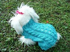 S handmade knit Blue dog sweater