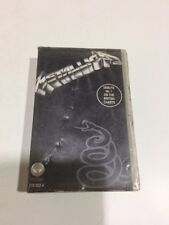 METALLICA black album ULTRA RARE clamshell CASSETTE tape MIL INDIA 1996