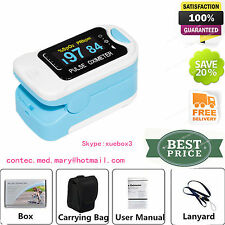 CONTEC OLED Fingertip oxymeter spo2 PR monitor Blood Oxygen Pulse oximeter+Pouch