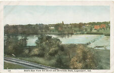 Logansport IN * View of Eel River & Riverside Park ca 1910 * Cass Co.