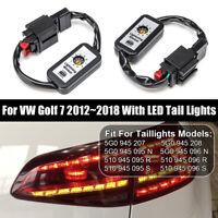 2PCS Dynamic Turn Signal Indicator LED Taillight Module For VW Golf 7 2012~2018