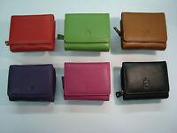 Genuine Soft Leather Ladies Purse Wallet Compact Size Zip around