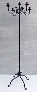 #4092 - Hoher Schmiedeeisen Kerzenleuchter - Antik Look - 160 cm