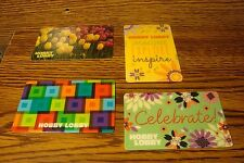 #4 (four) HOBBY LOBBY GIFT CARDs NO VALUE-Never Used or Activated Collectable  a