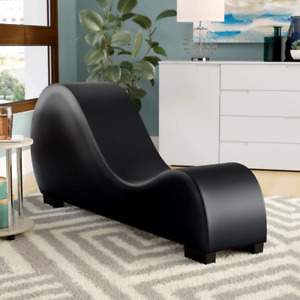 Amettes Faux Leather Armless Chaise Lounge