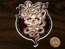 FATAL CREW Rodaini Snake Skull Sticker Car Window Decal West Coast Skate Skin In