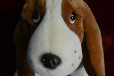 """12"""" Standing basset hound 4821 Fiesta plush toy, new -button eyes, Lovable Doggy"""