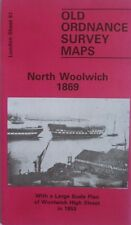 Old Ordnance Survey Map North Woolwich & Woolwich High St London1869 & 1853 S81