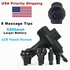 GSM Muscle Massage Gun Percussive 2020 Tech Touch Screen, 8 Tips, Larger Battery