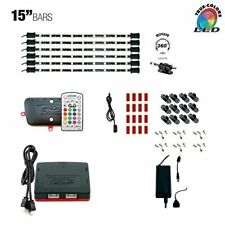 "LED Multicolor RGB TV Accent Backlight Under Cabinet Lighting 6 x 15"" LED Bars"