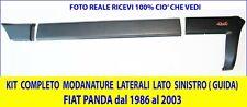 MODANATURE LATERALE Sinistra FIAT PANDA 4X4 Kit PARACOLPI PROTEZIONE Fiancata