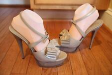 YSL Saint Laurent Platform Y Bow Sandal Heels  size 40.5 us 10.5 (taco700