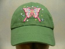 PLACE 89 - 4-7 MONTHS SIZE - EMBROIDERED BUTTERFLY - ADJUSTABLE BALL CAP HAT!