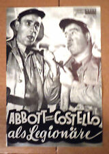 ABBOTT & COSTELLO IN THE FOREIGN LEGION Austrian program 1958