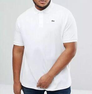 Lacoste Big & Tall Polo Shirt size 1XLB White BNWT Mens Classic Fit L1212