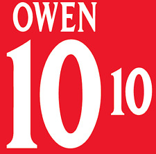 England Owen 2002 Nameset Shirt Soccer Number Letter Heat Print Football A