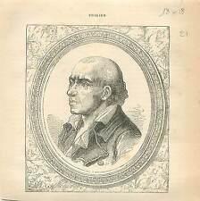 Marie Joseph Chalier Revolution Francaise FRANCE GRAVURE ANTIQUE OLD PRINT 1873