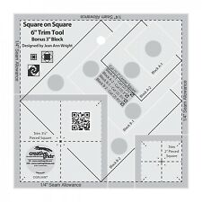 """Creative Grids Square on Square 6"""" Trim Tool Sewing and Quilting Ruler"""