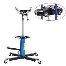 1100lbs Hydraulic Transmission Jack 2 Stage Height Adjustable Auto Shop Car Lift