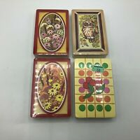 NOS Vintage Lot 4 Sealed Decks Trump Playing Cards Owl Cherries Flowers E6