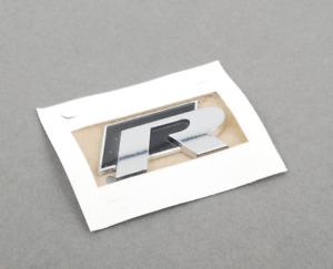 New Genuine Volkswagen Rear ''R'' Badge Logo Emblem 1K8853675KFXC OEM