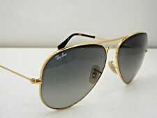 Authentic Ray-Ban RB 3025 181/71 Gold Grey Gradient Aviator L Sunglasses $210