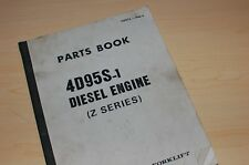 KOMATSU FD 20 25 23 28 Forklift 4D95S-1 Diesel Engine Z SERIES Parts Manual book
