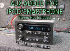 03 04 05 CHEVY SIERRA TAHOE YUKON STEREO RADIO CD Player MP3 SMARTPHONE AUX JACK