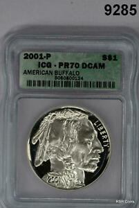 2001 P AMERICAN BUFFALO ICG CERTIFIED COMMEMORATIVE SILVER DOLLAR PR70 ! #9285