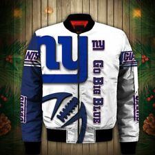 NEW YORK GIANTS Men's Bomber Jacket Zip Up Jackets Football Team Fans Logo NEW