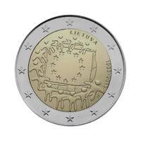 "Lithuania 2 Euro commemorative coin 2015 ""30 Years of EU Flag"" UNC"