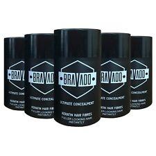 5 x Bravado Keratin Hair Fibres, Hair Loss Treatment, All Colours