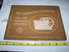 Old FAIRBANKS COMPANY CALLAHAN BATES EDMONDS Hit Miss Gas Engine Sales Catalog
