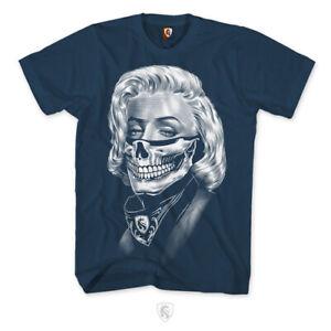 OG Abel Ogabel Marilyn Monroe Bandit Bandanna Urban Tattoos T Shirt A0461-NVY