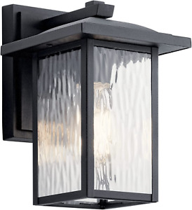 """Capanna 10.25"""" 1 Light Outdoor Wall Light with Clear Water Glass in Textured"""